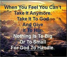 Take it too God