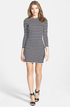 I had this dress in 1968 except it was blue and yellow stripes. THE perfect striped dress. @norstrom #nordstrom