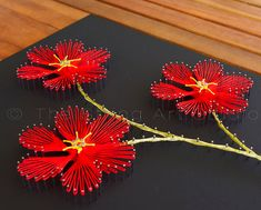 String art pattern DIY Plumeria. String art by TheStringArtStudio