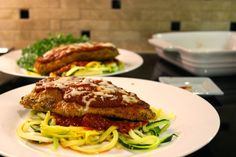 The Hunting Wife: Healthy Baked Chicken Parmesan on Zucchini Noodles