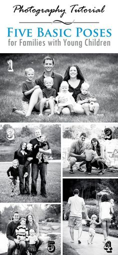 5 Basic Photography Poses for Families with Young Children | Lightroom Presets #childrenphotography,