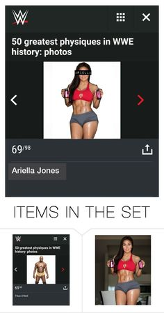 """50 greatest physiques in WWE history"" by digital-minerva ❤ liked on Polyvore featuring art"