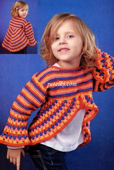 Knitting Patterns Sweter Crochet for kids. Crochet Toddler, Crochet Girls, Crochet Baby Clothes, Crochet For Kids, Boy Crochet Patterns, Knitting Patterns, Crochet Crafts, Knit Crochet, Hand Knit Scarf