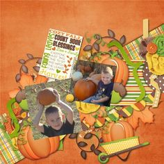 Layout using Cozy Fall Days by Katie Creates http://store.gingerscraps.net/Cozy-Fall-Days.html