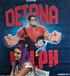 """Confiram nossa foto exclusiva da MariMoon na coletiva de imprensa do filme """"Detona Ralph"""" da Disney Pictures!"""