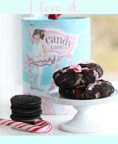 Candy cane & oreo cheesecake cookies