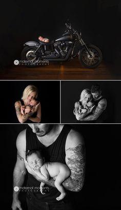 bunbury-newborn-photographer-southwest-busselton-family-maternal moments photography-baby on harley davidson
