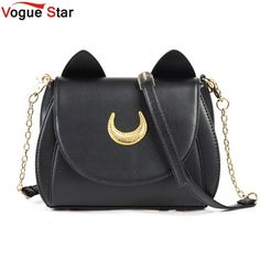Vogue Star! 2017 Summer Limited Sailor Moon Bag Ladies Handbag Black White Cat Luna Moon Women Messenger Crossbody Bag YA40-67 #>=#>=#>=#>=#> Click on the pin to check out discount price, color, size, shipping, etc. Save and like it!