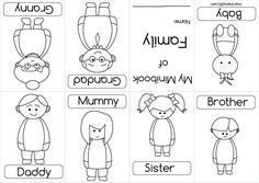 Cut and Paste Kids, Family Worksheets Preschool