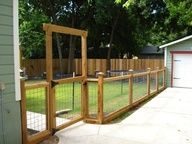 wood and welded wire fence -- I would love this around our garden someday...