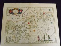 Very attractive early map showing Bentheim and Steinfurt in Germany. A colorful title cartouche with several-colored coat of arms helps decorate the map.very attractive early map showing Bentheim and Steinfurt in Germany. A colorful title cartouche with several-colored coat of arms helps decorate the map.