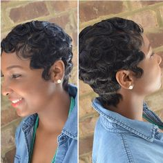 STYLIST FEATURE| Vintange #pixiecut done by #MontgomeryStylist @DefiningBeauty__ Love those waves #VoiceOfHair ========================= Go to VoiceOfHair.com ========================= Find hairstyles and hair tips! =========================