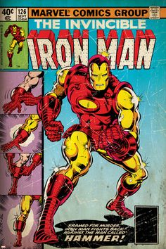 Marvel Comics Retro: The Invincible Iron Man Comic Book Cover No.126, Suiting Up for Battle (aged) Poster at AllPosters.com