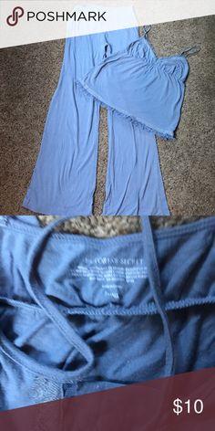 Victoria's Secret pajama set Victoria's Secret pajama set. Dusty blue. Size S. some minor pilling. No stains/rips. GUC. Victoria's Secret Intimates & Sleepwear Pajamas