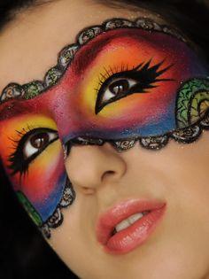 Colourful mask Makeup Tutorial   Makeup Geek