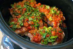 Delight's Bites: Lime-Cilantro Chicken Tacos paleo crockpot tacos