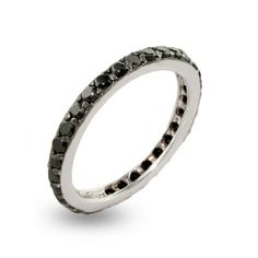 Sterling Silver Black CZ Stackable Ring  $35