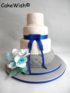 grey, white & bleu wedding.