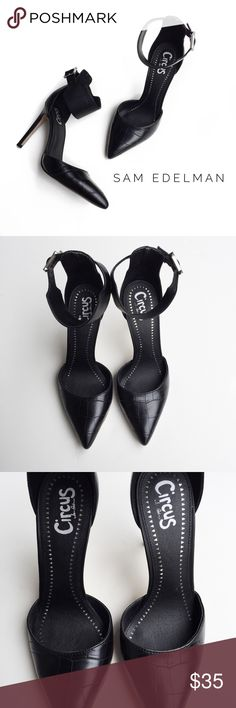 """• sam edelman circus 'maia' ankle strap heels • these are in excellent condition with very minimal signs of wear.   there is an ankle strap with a buckle.  heel height is approx. 4"""".   i personally think these run slightly big for a size 7.5 and could fit a size 8. Circus by Sam Edelman Shoes Heels"""