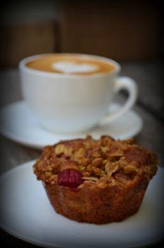 Rabarber Muffins m. crumble