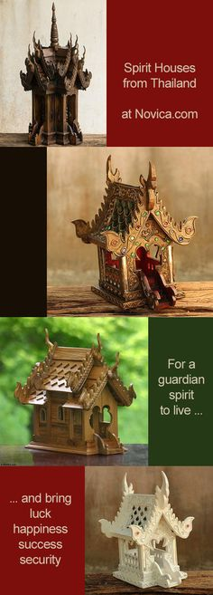 Spirit houses from Thailand from Novica | I have a giveaway right now for $75 gift card at Novica.com - click to enter #giveaway