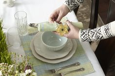 Add a touch of jeweled elegance to your table with the lovely Pearl Spiral Napkin Ring. Featuring three rows of faux pearls interspersed with crystal-like beads, these lovely napkin rings will add a festive sparkle to your table.