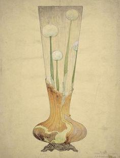 Emile Gallé           dessins d'études, Musée d'Orsay