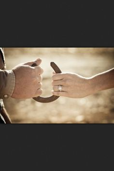 Country wedding photo @Christine Riach this is a cute way to photography your rings :)