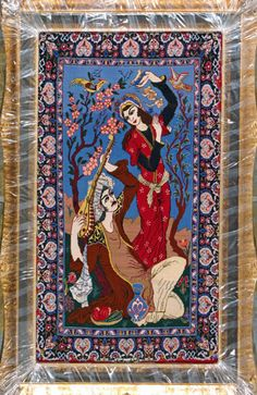 "Esfahan Persian Rug, Buy Handmade Esfahan Persian Rug 2' 4"" x 4' 2"", Authentic Persian Rug"