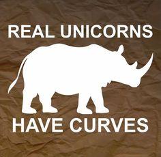 Real Unicorns Have Curves Funny Bumper Sticker Vinyl Decal Car ...