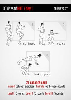 30 Days of High-Intensity Interval Training (HIIT)