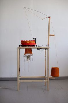 Another open source knitter: Circular Knitic. You can also order some of the parts online or print and laser cut your own.