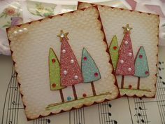 Glittery Christmas Tree Embellishments by vsroses.com, via Flickr