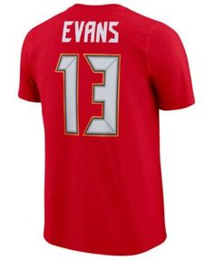 bf6c81d03ae Nike Men's Mike Evans Tampa Bay Buccaneers Pride Name and Number Wordmark  T-Shirt - Red S