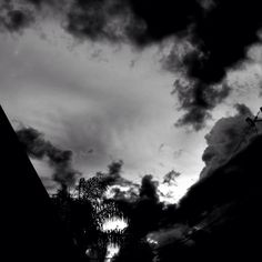 Clouds Are Breaking Apart  #mikefl99 #ello #weather #black #white #ipodphotography #B&W #sky #clouds #thunderstorms