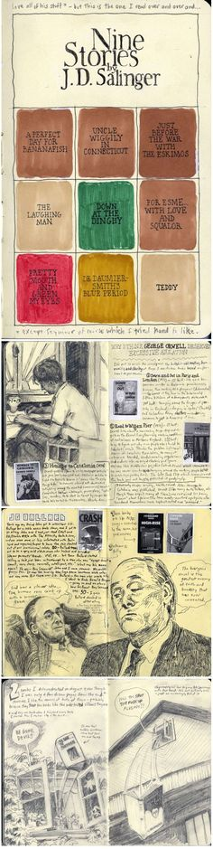 Joshua Landsman's Sketchbook Odes to His Favorite Authors