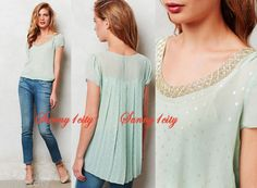 NEW-2-Anthropologie-Andolana-Blouse-By-Sachin-Babi-Stunning-148-RARE-Last-1