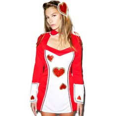 Card Guard Costume - Alice in Wonderland ($35) ❤ liked on Polyvore featuring costumes, peter pan halloween costume, alice in wonderland costume, leg avenue costumes, alice in wonderland halloween costumes and heart costume