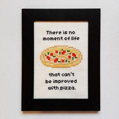 Daria Show Cross Stitch Pattern Pizza by PetipoaNeedleCraft