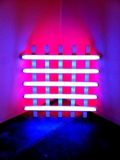 """Constructed Light. Fluorescent tube lighting as art. Light installation by Dan Flavin. Shot at Art Basel Miami 2010. """"One might not think of light as a matter of fact, but I do. And it is, as I said, as plain and open and direct an art as you will ever find."""" --Dan Flavin, 1987. Shot on the iPhone with HDR. No manipulation. Photo by: http://www.woodyhayesdesign.com/"""