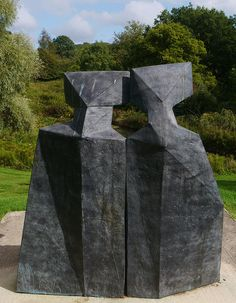 Lynn Chadwick Sculpture Park, Stroud, Sitting Figures, ii (3) by jacquemart, via Flickr