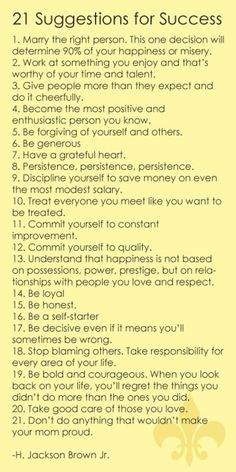 How to live a happy, fullfilled life1