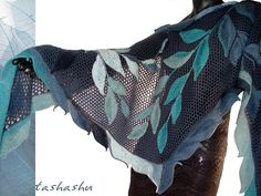 Ravelry: Knitted Shawl Blue Willow by Svetlana Gordon