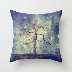 As old as time / Tree of the Universe Throw Pillow by Textures by Belle13 - $20.00