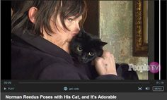 Click on picture to watch the video of Norman talking about his cat Eye In The Dark