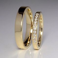 Cute Engagement Ring Designs - Going to purchase an engagement ring? You most definitely similar to this ideal engagement ring designs. The modern-day, traditional, and also luxury engagement ring. Wedding Rings Simple, Gold Wedding Rings, Diamond Wedding Bands, Unique Rings, Wedding White, Wedding Jewelry, Wedding Rings Sets His And Hers, Gold Rings, Couples Wedding Rings