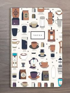 A coffee notebook in which coffee stains are actually acceptable. | 39 Amazing Gifts For People Who Love Coffee