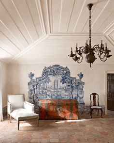 """Andalusia home - original """"azulejo"""" tiles have been preserved - Master Bedroom Sitting Room"""