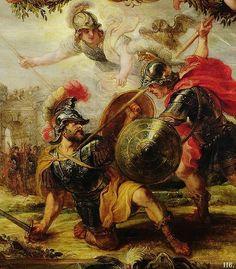 Achilles killing Hector. 1630. Peter Paul Rubens.
