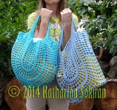 Nonstop net market bags: crochet pattern for purchase